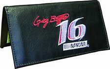 Greg Biffle Rico Industries #16 Black Leather Embroidered Checkbook Cover