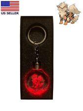 Pokemon Go Arcanine 3D LED Crystal Keychain & Gift Box Base set 1st original