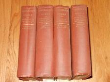 Thackeray's Works Illustrated Burlesques Yellowplush - 4 Volumes Boston Edition