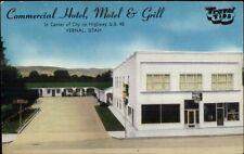 Vernal UT Commercial Hotel Motel & Grill Postcard