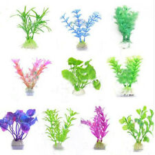 10 PCS/ LOT Mixed Colour Aquarium Fish Tank Decor Plastic Plant Grass Ornament