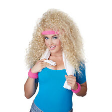 Womens Let's Get Physical 80's Halloween Wig