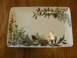 Williams Sonoma Woodland Berry Rectangular Serving Platter-Christmas-UpNorth-New