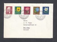 SWITZERLAND 1958 PRO JUVENTUTE FLOWERS COVER ADELBODEN SONNENPARADIES TO HOLLAND