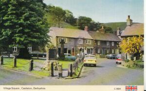 Derbyshire Postcard - Village Square - Castleton - Ref TZ5772
