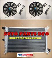 For Ford Radiator&FANs BA BF Falcon V8 XR8 XR6 Turbo 50mm 02-08 2Row Aluminium