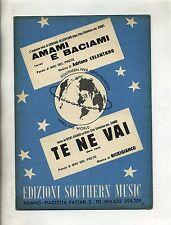 AMAMI E BACIAMI-TE NE VAI#Spartito Southern Music#Adriano Celentano-Ricki Gianco