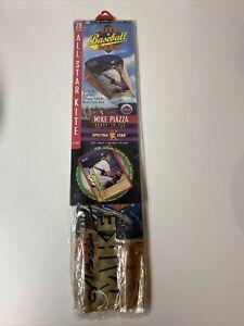 """Vtg 1999 Spectra Star MLB Kite & Baseball Card Mike Piazza 28"""" Sled Kite"""