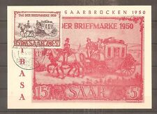 TIMBRE SARRE SAAR 1950 FDC IBASA N°270 OBLITERE USED 1ER JOUR
