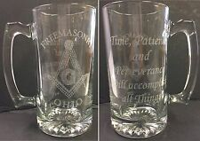 Laser Engraved Masonic 25 oz Sports Mug w/ saying Time, Patience & Perserverance