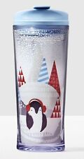 NEW SOLD OUT 2016 STARBUCKS HOLIDAY ACRYLIC PENGUIN WHITE BLACK 12OZ TUMBLER CUP