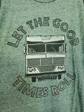 Tee Luv LET THE GOOD TIMES ROLL Winnebago Mens Graphic T-Shirt Tee Green Size 3X