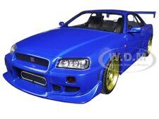 1999 NISSAN SKYLINE GT-R (R34) BAYSIDE BLUE 1:18 DIECAST MODEL GREENLIGHT 19032