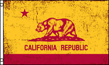 California Red & Gold 3x5ft Flag poly Ca