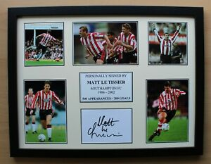 Matt Le Tissier Signed Southampton Multi Picture Career Display (20673)