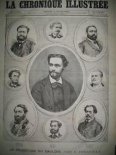 JOURNALISTES LA REDACTION DU JOURNAL LE GAULOIS LA CHRONIQUE ILLUSTRéE 1868