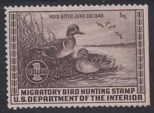 TDStamps: US Federal Duck Stamps Scott#RW6 Unused NG Lightly Crease