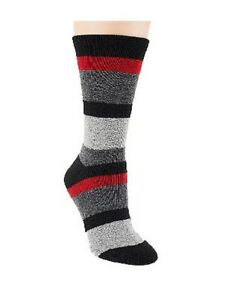 Passione Mens Cashmere Blend Cushioned Foot Luxury Stripe Crew Socks One Size