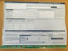 Sage P60 Form 2018-2019 -Original - Not a Photocopy