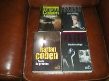 HARLAN COBEN LOT 4 GRANDS FORMATS A DECOUVERT SANS DEFENSE DOUBLE PIEGE PREUVES