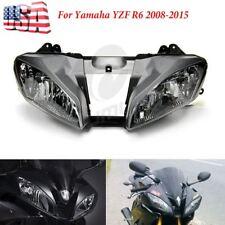 Headlight Head Light Lamp Assembly For Yamaha YZF R6 2008-2016 2009 2010 2012 US