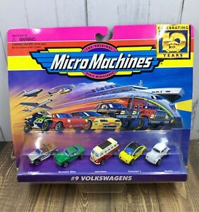 Micro Machines #9 Volkswagens NOS 1996 Galoob VW Beetle Cabriolet Microbus