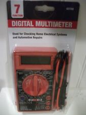7 Function DIGITAL Multimeter, DVOM - AC, DC Volts - Amps or Ohms - WITH BATTERY