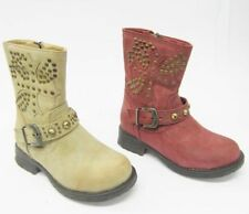 Scarpe Stivali beige con cerniera per bambine dai 2 ai 16 anni