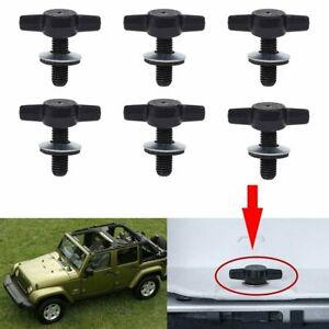 6Pcs Hard Top Quick Removal Screw Fastener Kit for 2007-2018 Jeep Wrangler JK