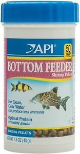 API Bottom Feeder Pellets With Shrimp Fish Food 1.5 Ounce