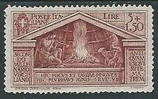 1930 REGNO VIRGILIO 5 LIRE LUSSO MH * - Y063