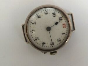 an antique silver - 925 - cased trench style watch