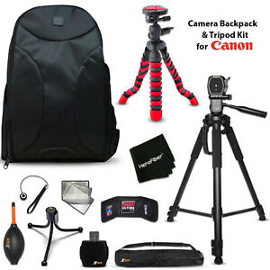 Well Padded Camera Backpack + 2 Tripods + KIT for Canon EOS Rebel T3