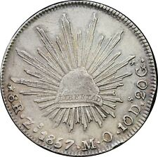 Mexico 8 Reales Zs 1857 M.O. Zacatecas Mint, KM# 377.13
