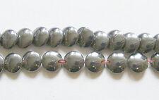 """1 Strand Hematite Disc Beads - 10mm - 15"""" Strand"""