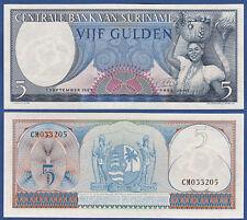 SURINAM / SURINAME 5 Gulden 1963 UNC P.120