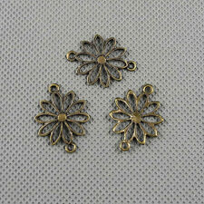 4x Craft Supplies Jewelry Making Pendants Findings Charms A2619 Flower Connector