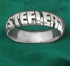 pittsburgh steelers STERLING SILVER Ring,ANY SIZE