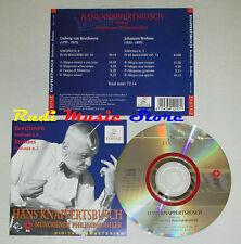 CD HANS KNAPPERTSBUSCH sinfonia 8 BEETHOVEN sinfonia 2 BRAHMS 1995 lp mc dvd