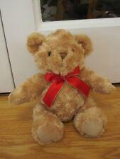 """KEEL BROWN TEDDY BEAR SUPER SOFT CURLY TUFTY PLUSH 9"""" SITTING TOY"""