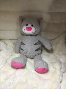 Build A Bear Workshop Plush Snazzy Kitty Cat Grey And Pink Stuffed Animal 16""
