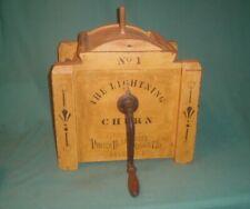 Wooden The Lightning Churn No. 1 Porter Blanchard's Sons Nashua N.H. Humphrey