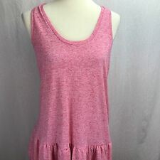 Victoria's Secret Medium Dress Racerback Layered Ruffle Skirt Pink NWOT NEW
