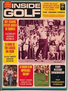 Inside Golf-Spring-1969-Jack Nicklaus-Julius Boros-Bob Murphy-VF