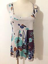 Tibi New York Silk Cami Sleeveless Top Blouse Size M