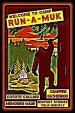 *CAMP RUN A MUK* USA MADE! METAL SIGN 8X12 LOG CABIN RUSTIC LODGE BEAR UFO