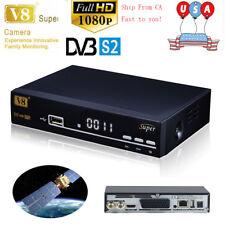 V8 Super FTA Freesat DVB-S2 Satellite Receiver Full HD 1080P Support Youtube USA