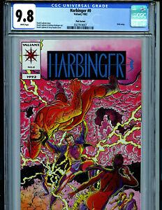 Harbinger Pink Premium Issue #0 CGC 9.8 NM/MT Valiant Comics 1992 Amricons K7
