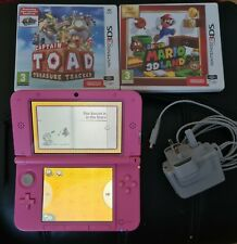 NINTENDO 3DS XL CONSOLE - PINK WITH GAMES