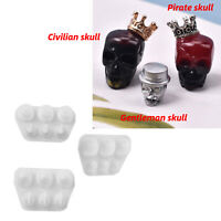 DIY Resin Craft Mould Civilian Gentleman Skull Bracelet Jewelry Silicone Mold